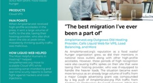 """The best migration I've ever been a part of"" - AmpleHarvest.org Case Study"