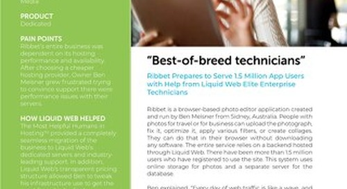 """""""Best-of-breed technicians"""" - Ribbet Case Study"""