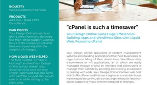 """""""cPanel is such a timesaver"""" - Your Design Online Case Study"""