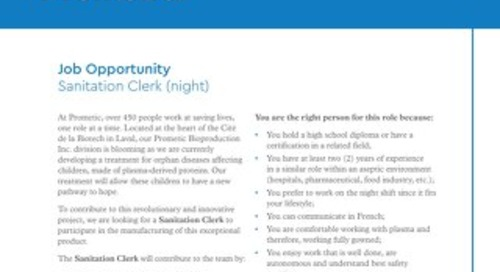Sanitation Clerk (night)