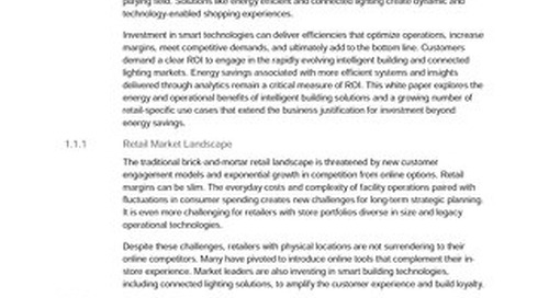 Intelligent Connected Building Solutions, Navigant Retail White Paper