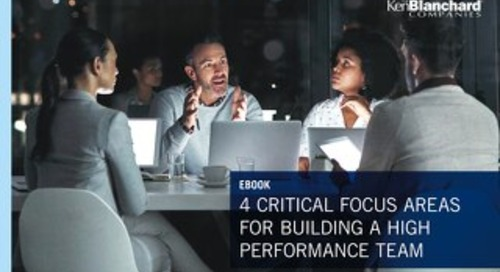 7 Critical Elements of a High Performance Team