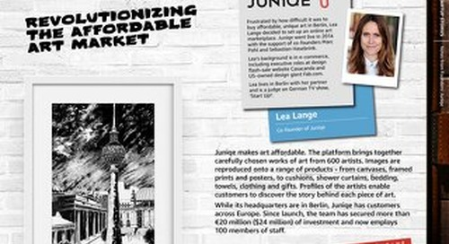 Juniqe: AWS Startup Stories Notes from Founders Vol1