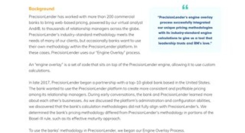 """Overview of PrecisionLender's """"Engine Overlay"""" Process"""