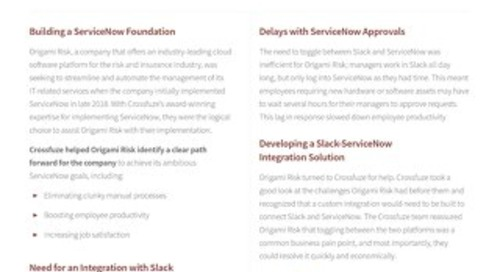 Crossfuze Case Study: Slack Integration with ServiceNow