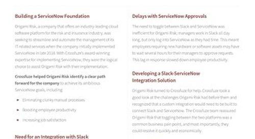 Crossfuze Case Study: Slack Integration with ServiceNow