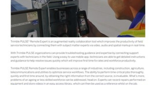 Trimble PULSE Remote Expert Solution Sheet_042019