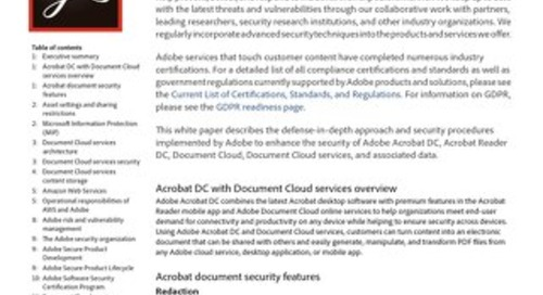 Acrobat DC Security Overview
