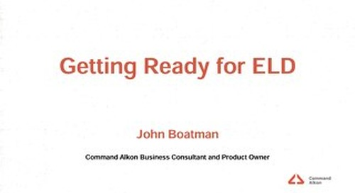 Getting Ready for ELD