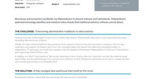 Malwarebytes: Accelerating Data-Driven Malware Protection with Snowflake
