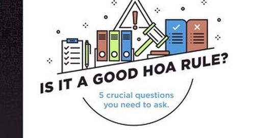Is It a Good HOA Rule?