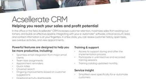 Acsellerate CRM Solution Flyer