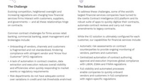 Enterprise Contract Management for Financial Services
