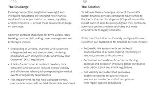 Enterprise Contract Management for Financial Services