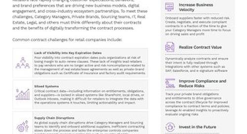 Enterprise Contract Management for Retail