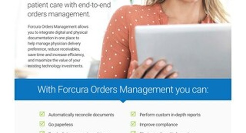 Forcura Orders Management: Solution Sheet