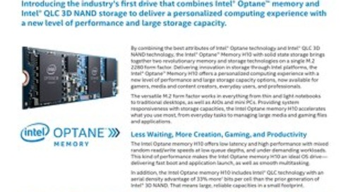 Optane Memory H10 Solid State Storage