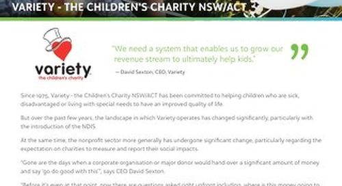 Customer Spotlight: Variety - The Children's Charity NSW/ACT