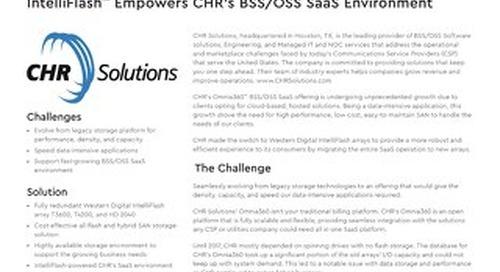 IntelliFlash Empowers CHR's BSS/OSS SaaS Environment