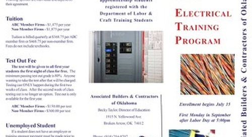 ABC Electrical Apprenticeship Brochure