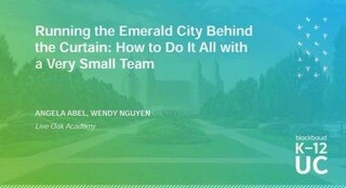 Running the Emerald City Behind the Curtain: How to Do It All with a Very Small Team