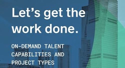On-Demand Talent Capabilities and Project Types