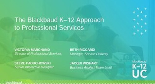 The Blackbaud K–12 Approach to Professional Services​