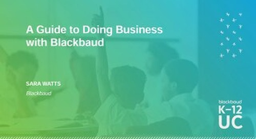Getting in the Know A Guide to Doing Business with Blackbaud
