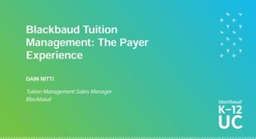 Blackbaud Tuition Management - The Payer Experience