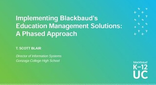 Implementing Blackbaud Management Solutions A Phased Approach