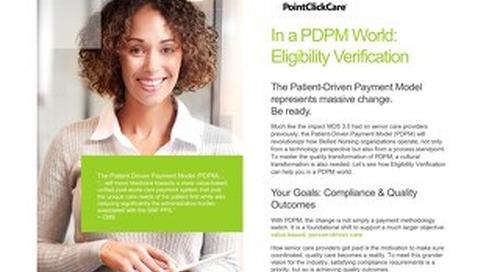 PDPM Eligibility Verification Solution Sheet