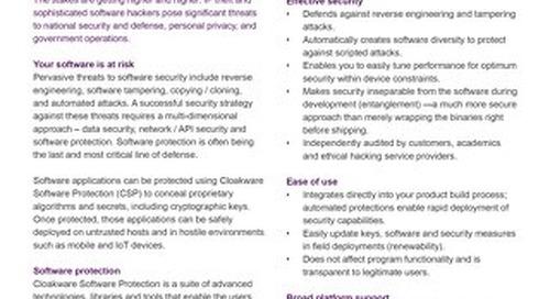 Datasheet: Cloakware® Software Protection