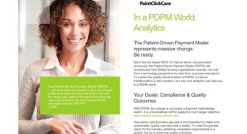 PDPM Analytics Solution Sheets