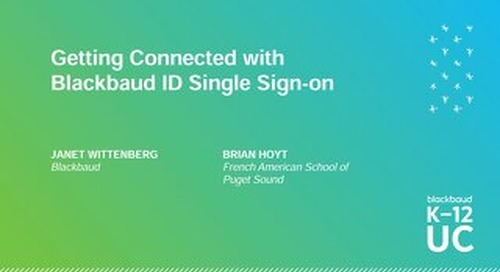 Getting Connected with Blackbaud ID Single-Sign-On