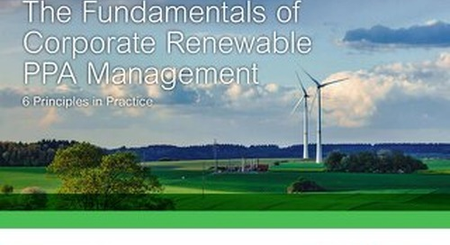 The 6 Fundamentals of Corporate Renewable PPA Management