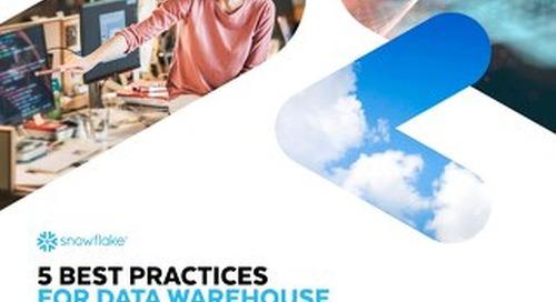 5 Best Practices for Data Warehouse Development