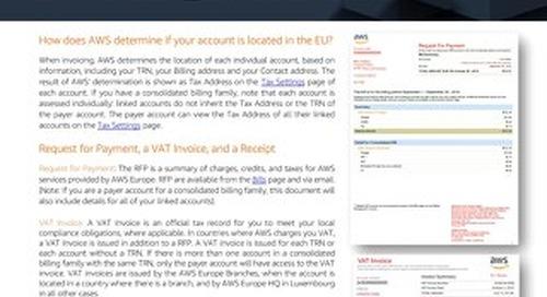 AWS Billing Documents