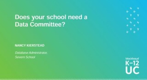 Does your school need a Data Committee?