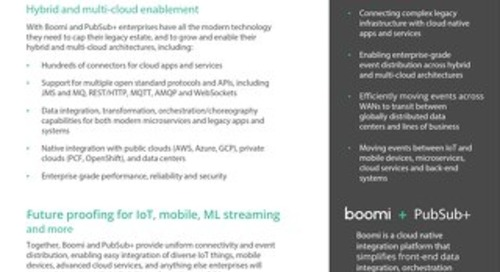 Event Driven iPaaS: Solace + Boomi Datasheet