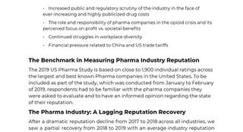2019 Pharma Research Summary