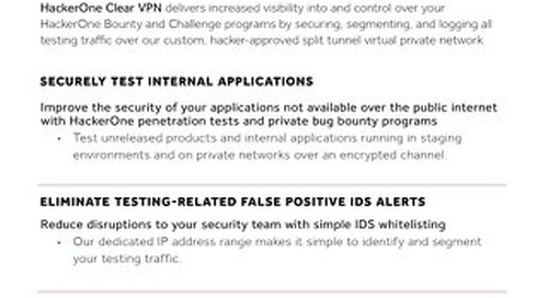 HackerOne Clear VPN Brief