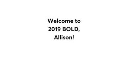 Allison Berding BOLD Agenda