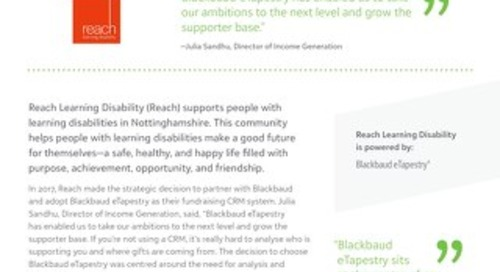 Reach Learning Disability   eTapestry