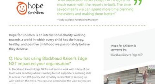 Hope for Children | Raiser's Edge NXT