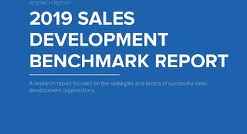 TOPO 2019 Sales Development Benchmark Report