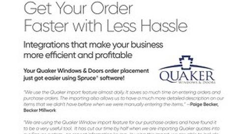 ECI Spruce Quaker Windows & Doors Integration