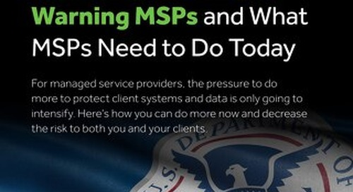 Why the Department of Homeland Security is Warning MSPs and What MSPs Need to Do Today