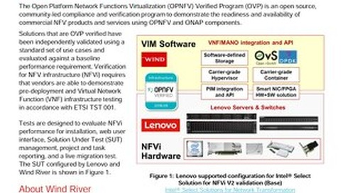 Announcement: Open Platform NFV Verified Program For NFVi