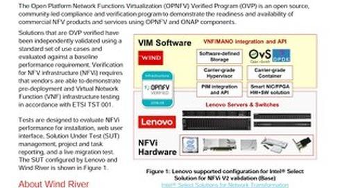 Announcement: Open Platform NFV Verified Program For NFVi