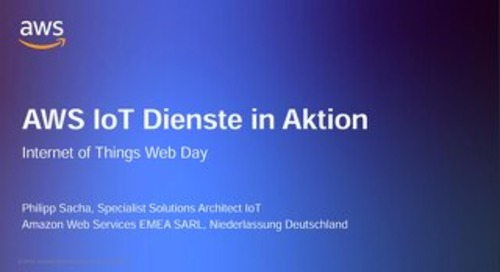AWS IoT Dienste in Aktion - Präsentation